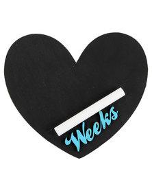 Melsbuzz Blue Heart Chalk Board
