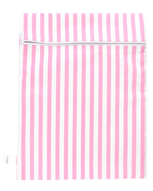 Melsbuzz Pink and White Stripe Wet Bag