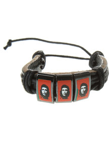 Metallic Mermaid Che Guevara Bracelet Black