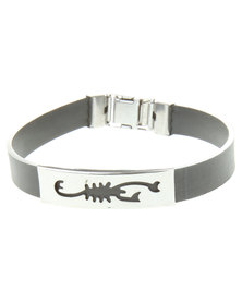 Metallic Cutout Scorpion Bracelet Black