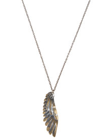 Metallic Mermaid Wing Necklace
