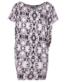 Michelle Ludek Jackie Dress with Tie Dye Print Multi