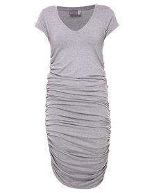 Michelle Ludek Blaine T-shirt Dress Light Grey