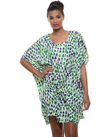 Holly Woven Knot Dress Green