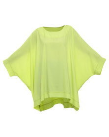 Michelle Ludek Exclusive Chelsea Oversized Top Lime