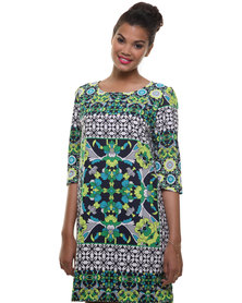 Michelle Ludek Exclusive Macy Scarf Print Dress Multi