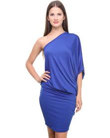 Michelle Ludek Sam Asymmetrical Dress Cobalt