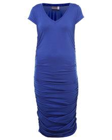 Michelle Ludek Blaine T-Shirt Dress Cobalt