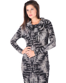 Michelle Ludek Blake Animal Print Dress Multi