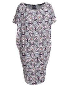 Michelle Ludek Jackie Mirror Print Dress Multi