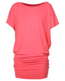 Michelle Ludek Jackie Dress Deep Coral