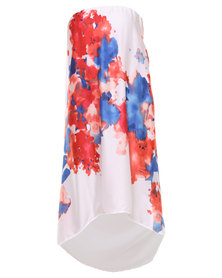 Michelle Ludek Mimi Hi Lo Dress Print Multi