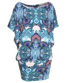 Michelle Ludek Jackie Persian Palace Paisley Print Dress Multi