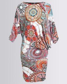 Michelle Ludek Stella Dress Kaleidpscope Print