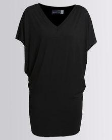 Michelle Ludek V Neck Jackie Dress Black