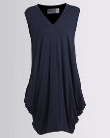 Michelle Ludek Sleeveless Dress With Pockets Navy