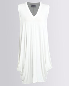 Michelle Ludek Sleeveless Dress With Pockets Cream