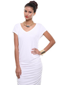 Michelle Ludek Blaine T-Shirt Dress White