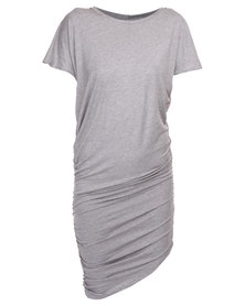 Michelle Ludek Exclusive Jada with Side Ruching Dress Grey