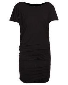 Michelle Ludek Exclusive Jada with Side Ruching Dress Black