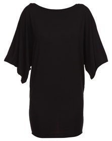 Michelle Ludek Jackie Kimono Sleeve Dress Black