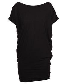 Michelle Ludek Jackie Back Cowl Dress Black