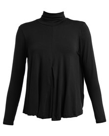 Michelle Ludek Lily Polo Neck Top Black