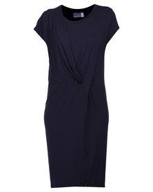Michelle Ludek Leah Knot Dress Navy