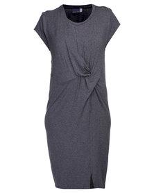 Michelle Ludek Leah Knot Dress Charcoal