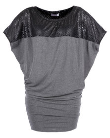 Michelle Ludek Jackie Inset Dress Grey