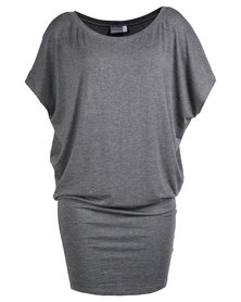 Michelle Ludek Jackie Dress Charcoal Grey