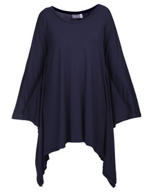 Michelle Ludek Chloe Tunic Top Navy