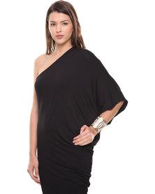 Michelle Ludek Sam Asymmetrical Dress Black