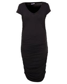 Michelle Ludek Blaine T-shirt Dress Black