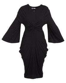 Michelle Ludek Exclusive Knot Tie Dress Black
