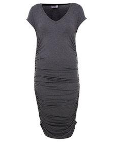 Michelle Ludek Blaine T-Shirt Dress Charcoal