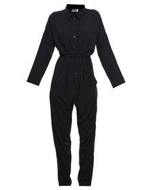 Michelle Ludek Jamie Shirt Jumpsuit Black