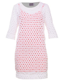 Michelle Ludek Macy Dress Punch Out Coral