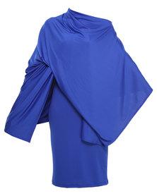 Michelle Ludek Fin 2 in 1 Poncho & Dress/Skirt Cobalt