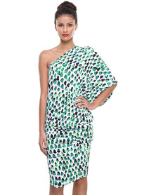 Michelle Ludek Exclusive Sam Asymmetrical Dress Green