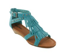 Minnetonka Monaco Sandals Turquoise