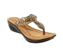 Minnetonka Boca Thong II Sandals Bronze