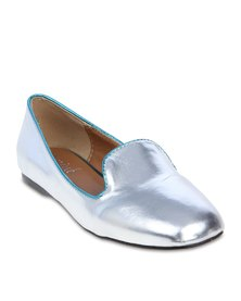 Mint Metallic Heel Pumps Silver