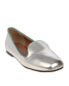 Mint Metallic Heel Pumps Gold