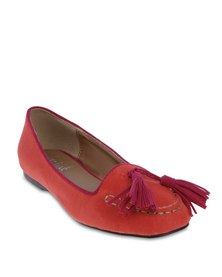 Mint Tassel Stitch Loafer Red