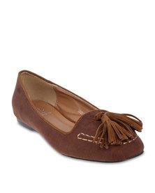 Mint Tassel Stitch Loafer Brown