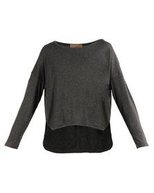 Mint Long Sleeve Modal Top Grey
