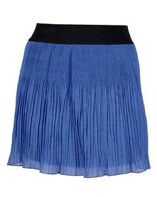 Mint Knife Pleated Skirt Blue