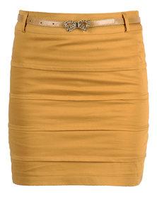 Mint Skirt Mustard
