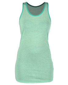 Mint Stripe Vest Dress Green